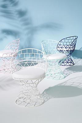Slide View: 4: Desi Indoor/Outdoor Pedestal Chair