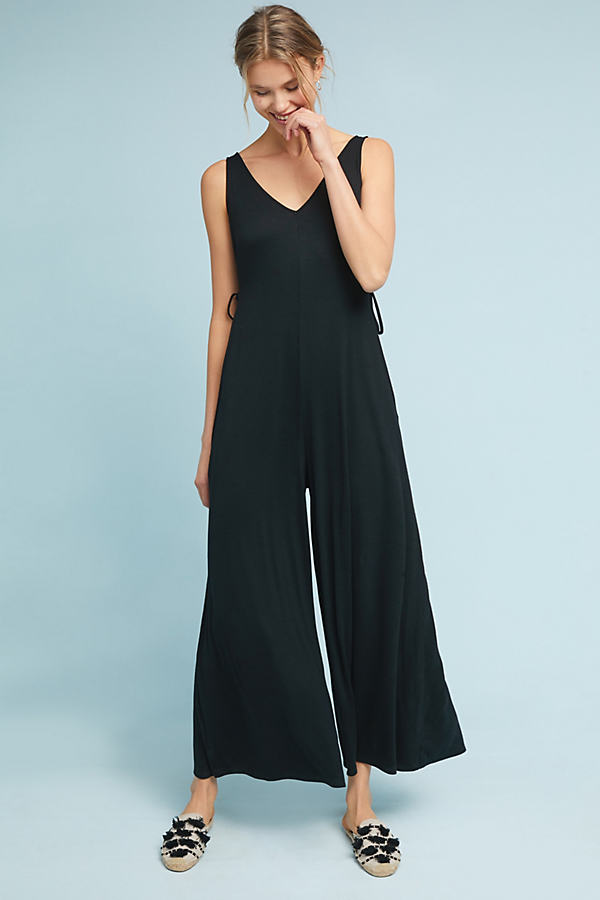 Selma Ribbed Jumpsuit - Black, Size L