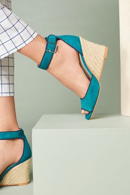 Liendo by Seychelles   Liendo by Seychelles Argos Wedge Sandals  -    TURQUOISE