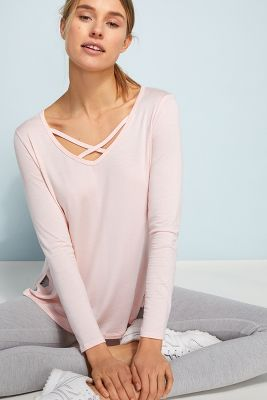 Cross Me Once Pullover by Beyond Yoga