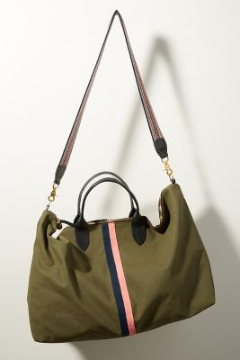 Clare V.   Clare V. Waxed Canvas Weekender Bag  -    MOSS