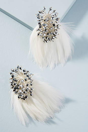Mini Delaney Feather Drop Earrings