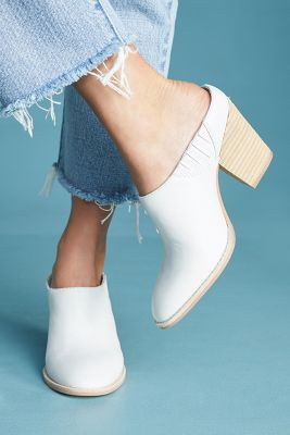 Jeffrey Campbell   Jeffrey Campbell Rosale Mule Booties  -    WHITE
