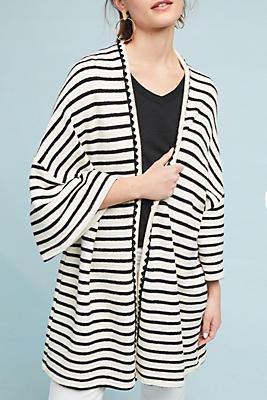 Slide View: 1: Striped Knit Kimono