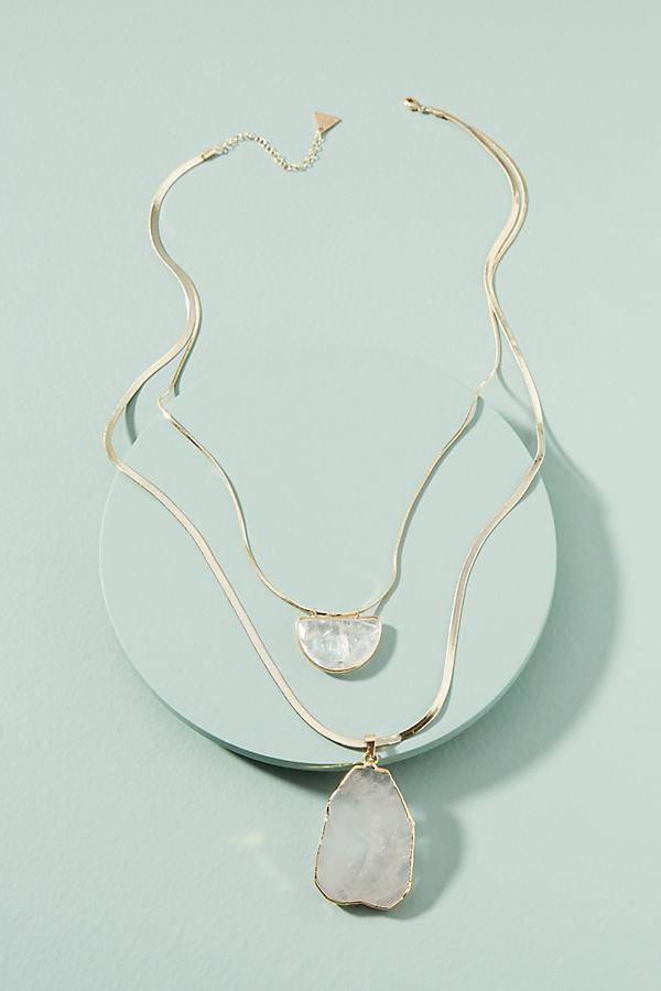 Adeline Stone Necklace - Gold