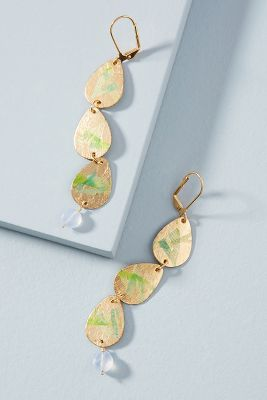 Luanne Triple Drop Earrings  -    GOLD