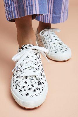 Superga   Superga Winking Eye Sneakers  -    WHITE