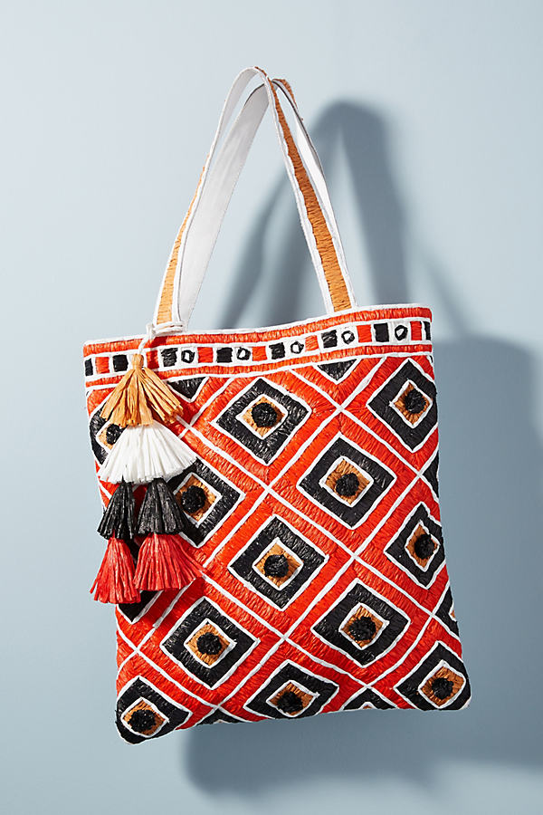 Tamati Tote Bag - Bright Red