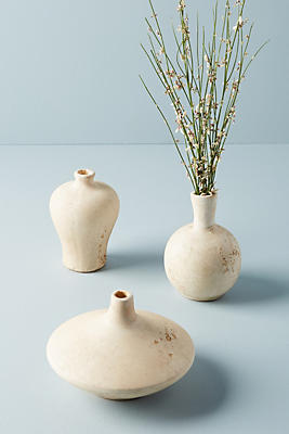 Slide View: 1: Speckled Terracotta Vase Set