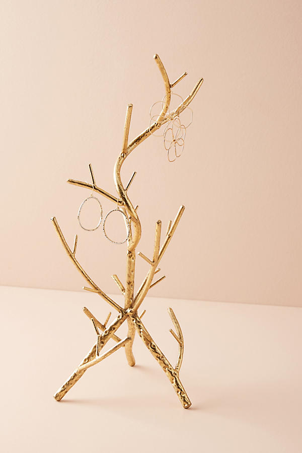 Slide View: 1: Golden Branch Jewelry Stand