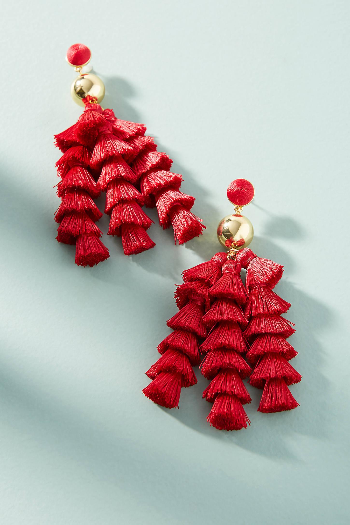 Corsetta Tassel Drop Earrings