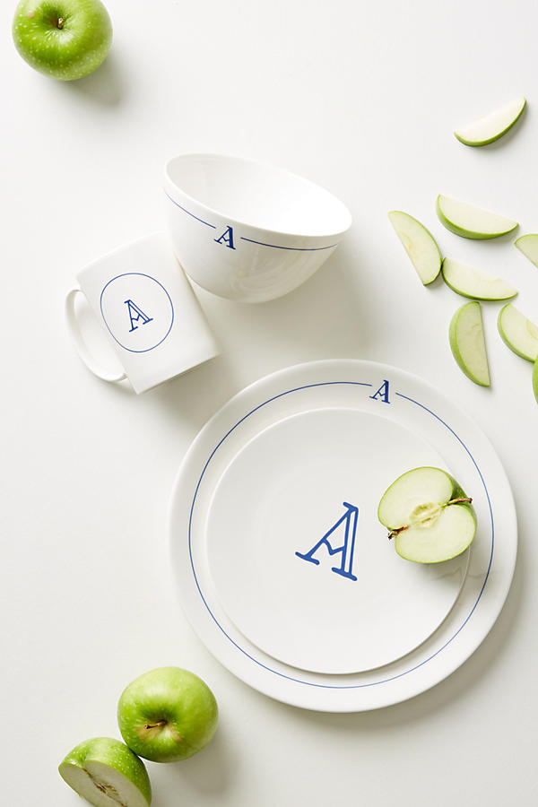 Slide View: 2: Modern Monogram Dinner Plate