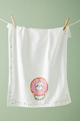 Slide View: 1: Donut Bunny Dish Towel
