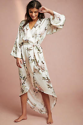 Slide View: 1: Maison Du Soir Isabel Silk Robe