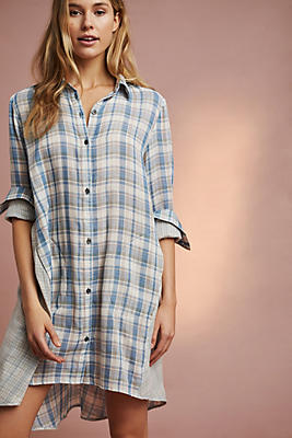 Slide View: 1: Plaid Sleep Shirt