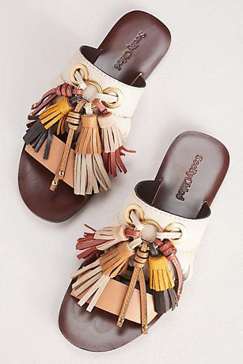 See by Chloe Tania Tassel Slide Sandals