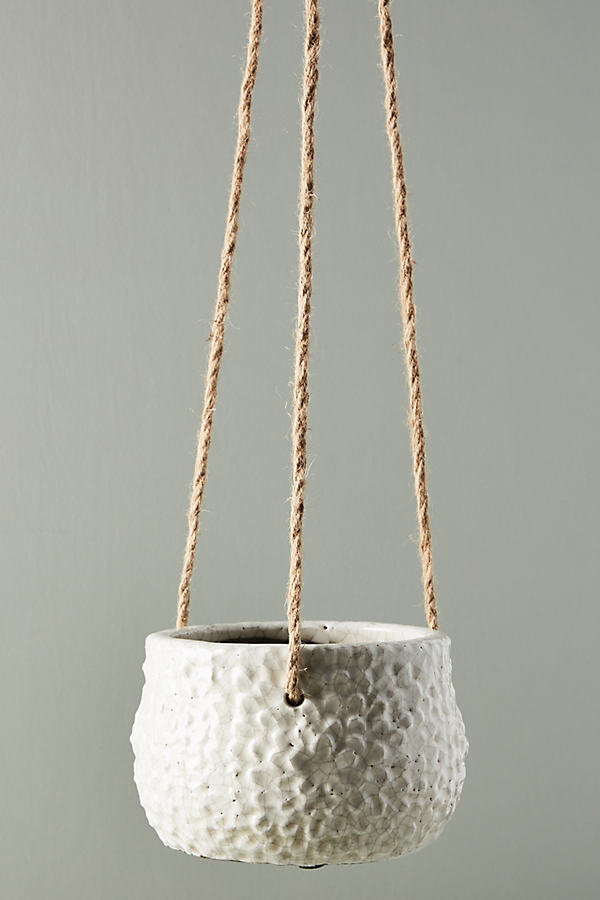 Dune Hanging Pot - White, Size S