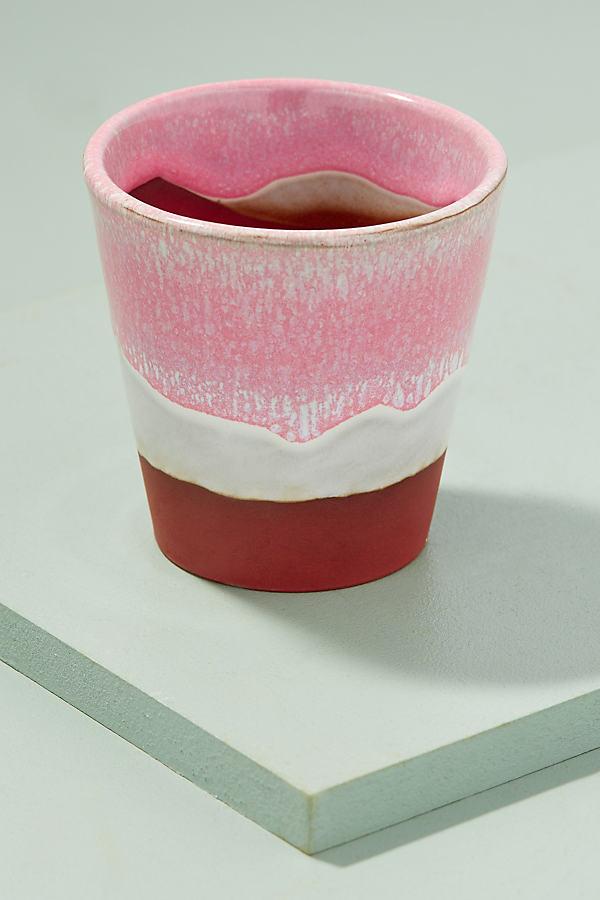 Beaumont Gestreifter Blumentopf - Pink