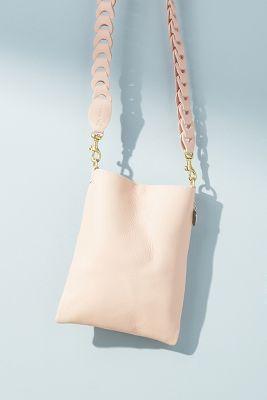 Clare V.   Clare V. Lauren Structured Crossbody Bag  -    PINK