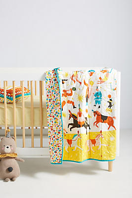 Slide View: 1: The Printed Peanut Circus Toddler Quilt