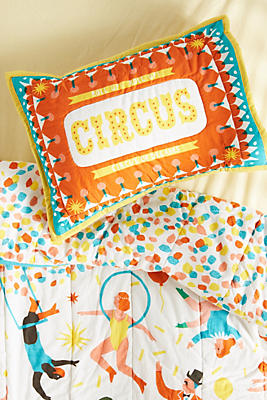 Slide View: 1: The Printed Peanut Circus Shams