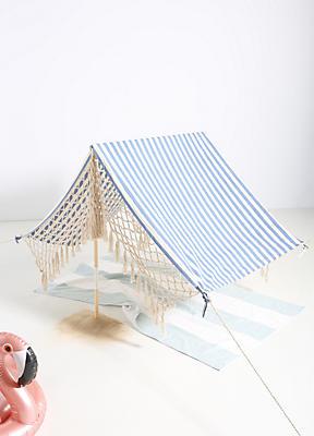 Slide View: 1: Striped Beach Tent