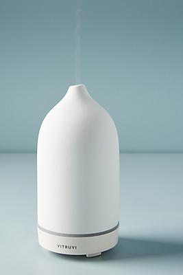 Slide View: 1: Vitruvi White Stone Essential Oil Diffuser