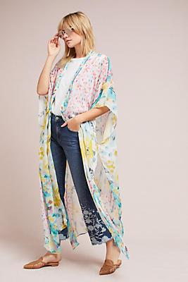 Slide View: 2: Mosaic Floral Kimono