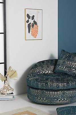 Slide View: 1: Rosa Print Barwick Swivel Chair