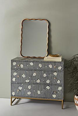 Slide View: 1: Ada Inlay Three-Drawer Dresser