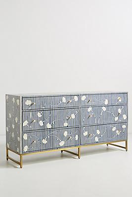 Slide View: 1: Ada Inlay Six-Drawer Dresser