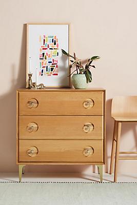 Slide View: 1: Carraway Three-Drawer Dresser