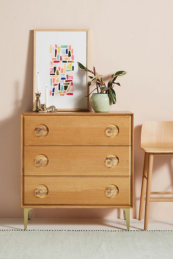 Slide View: 1: Carraway Three-Drawer Dresser
