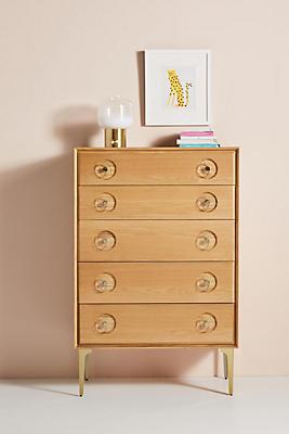 Slide View: 1: Carraway Five-Drawer Dresser