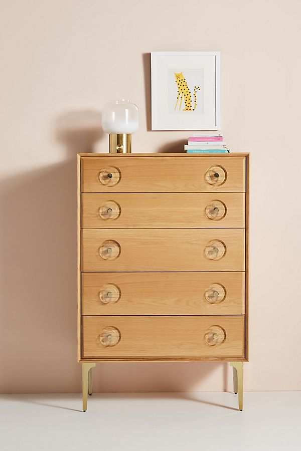 Slide View: 1: Carraway Five-Drawer Dresser