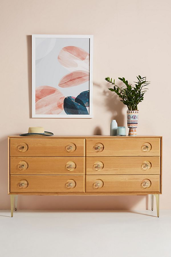 Slide View: 1: Carraway Six-Drawer Dresser