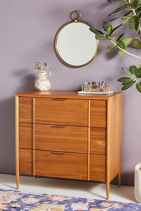 Slide View: 1: Quincy Three-Drawer Dresser