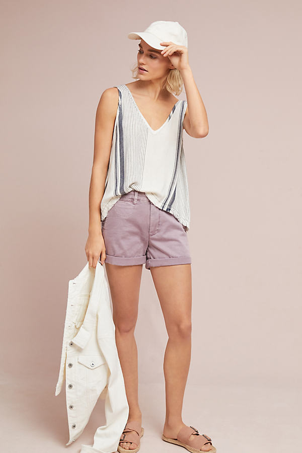 Relaxed Chino Shorts - Lilac, Size 30