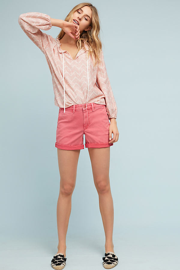 Relaxed Chino Shorts - Pink, Size 31