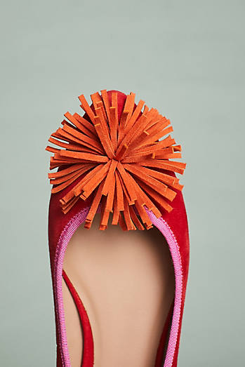 Anthropologie Pommed Ballet Flats