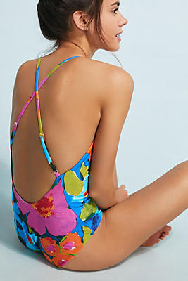 Slide View: 1: Mara Hoffman Emma V-Neck One-Piece Swimsuit