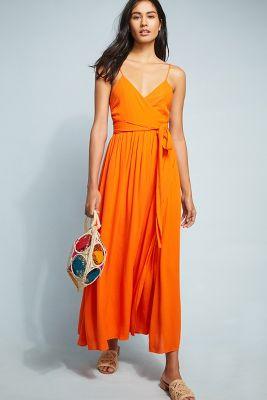 Mara Hoffman   Mara Hoffman Sunburst Cover-Up Dress  -    ORANGE