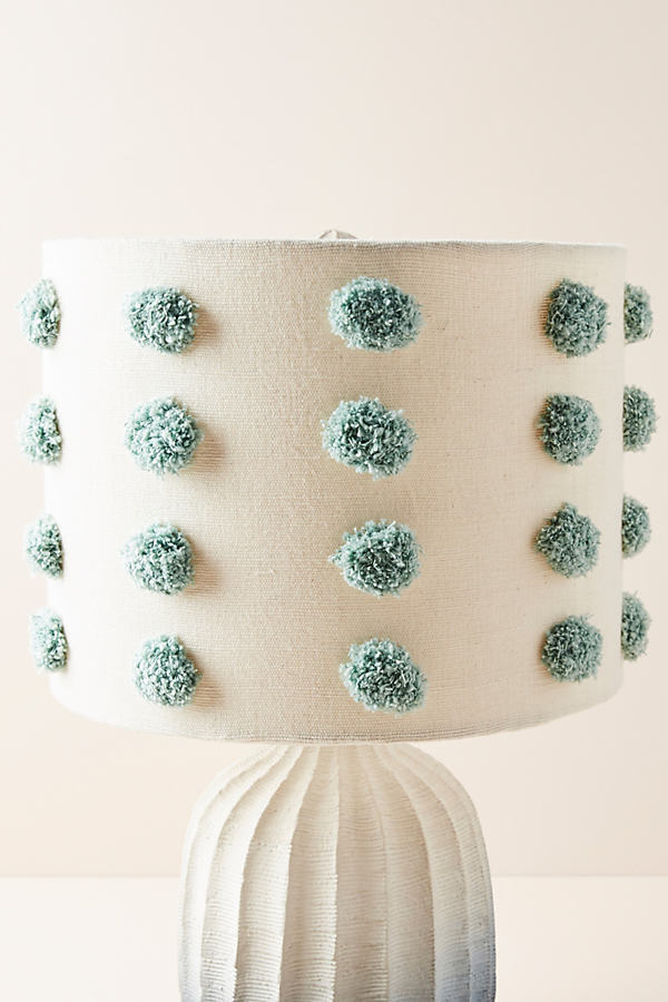 Tufted Bungalow Lamp Shade - Blue, Size M