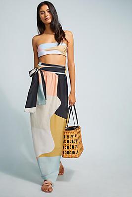 Slide View: 1: Mara Hoffman Colorblocked Wrap Skirt