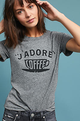 Slide View: 1: Sol Angeles J'Adore Coffee Graphic Tee