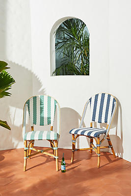 Slide View: 7: Woven Indoor/Outdoor Bistro Chair