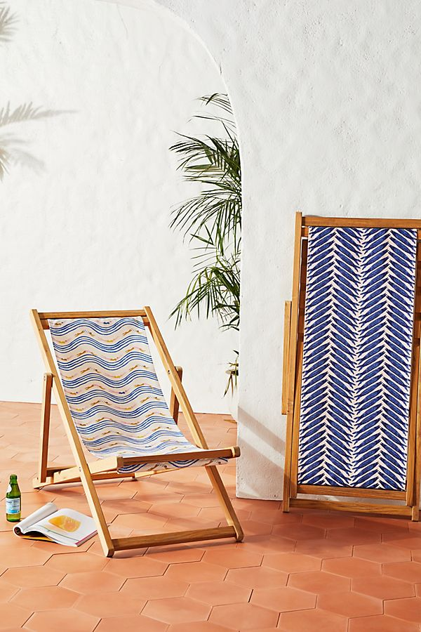 Slide View: 2: Emily Isabella Swimmer Striped Beach Chair