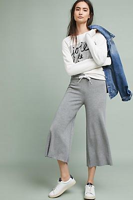 Slide View: 1: Stateside Fleece Wide-Leg Pants