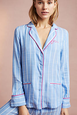 Slide View: 1: Sweetly Striped Sleep Shirt