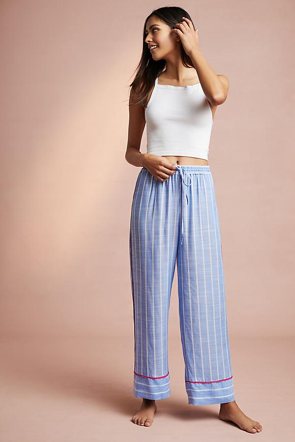 Trista Striped Sleep Pants - Blue Motif, Size M